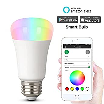 wifi smart luz led que cambia de color bombilla weton no hub inteligente bombilla trabajo con. Black Bedroom Furniture Sets. Home Design Ideas