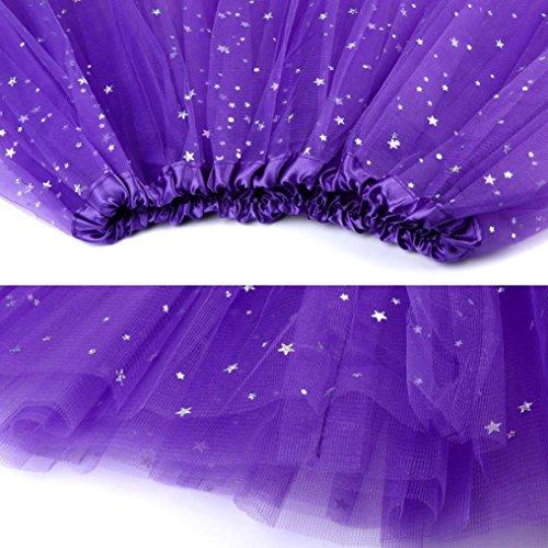 Couch jupe Tutu Organza Mini Jupe Femmes dentelle Violet Ballet A Kingwo Dentelle fXfTCq1