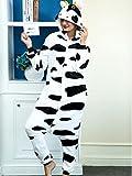 iSZEYU Adult Onesies For Women Cow Pajamas Costume Men Teens Girls Animal Onsie