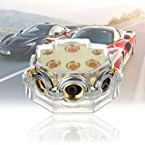 HOT SALE 68x50x30mm Car Chrome Distributor Audio Stereo Power Ground Cable Distribution Block SKPD-02 Gauge to 8X2 4X2 2X1