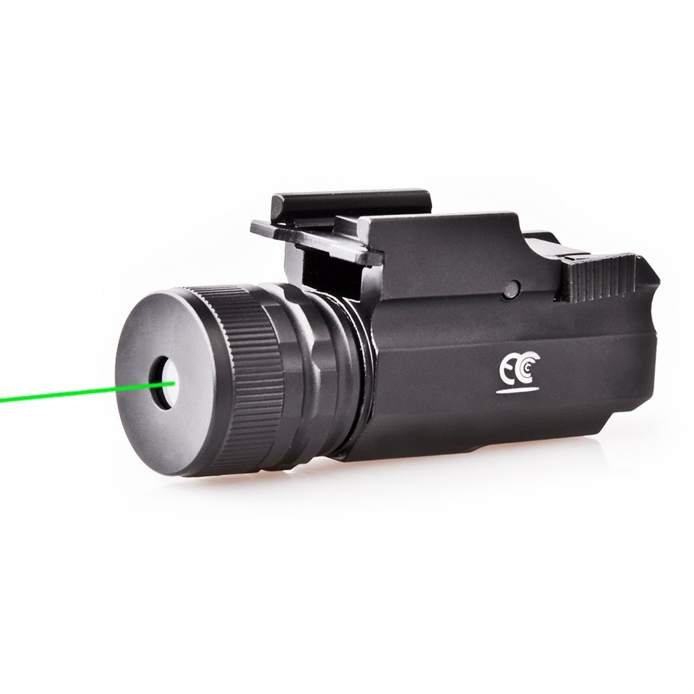 MCCC Hunting Pistol Green Laser Sight Dot Scope Adjustable Gun Sight with Rail Mount, Quick Relase by MCCC