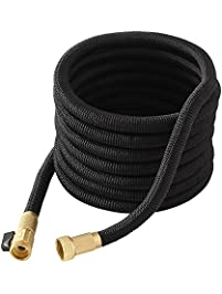 garden hose50ft expandable expanding garden hose with solid brass connector for - Garden Hose Storage