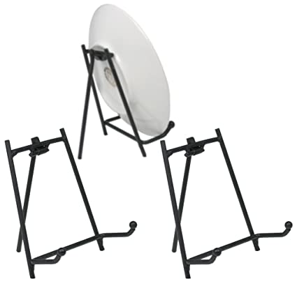 Amazon.com: Black Display Stand - Set of 3 Metal Easels - Wrought ...