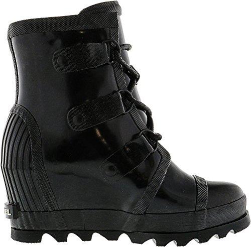 Women's Rain Salt SOREL Boots Sea Black Joan Wedge Gloss q6Hfwd