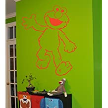 Elmo Sticker Elmo decal Elmo Wall art Sesame street Nursery room Kids bedroom Children's room Wall Art Decal Stickers tr651