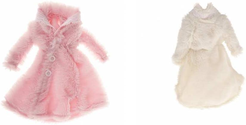 BELLISSIMA Lunga Morbida Pelliccia Cappotto Giacca Per Barbie Doll Clothes Abito Outfit Regalo