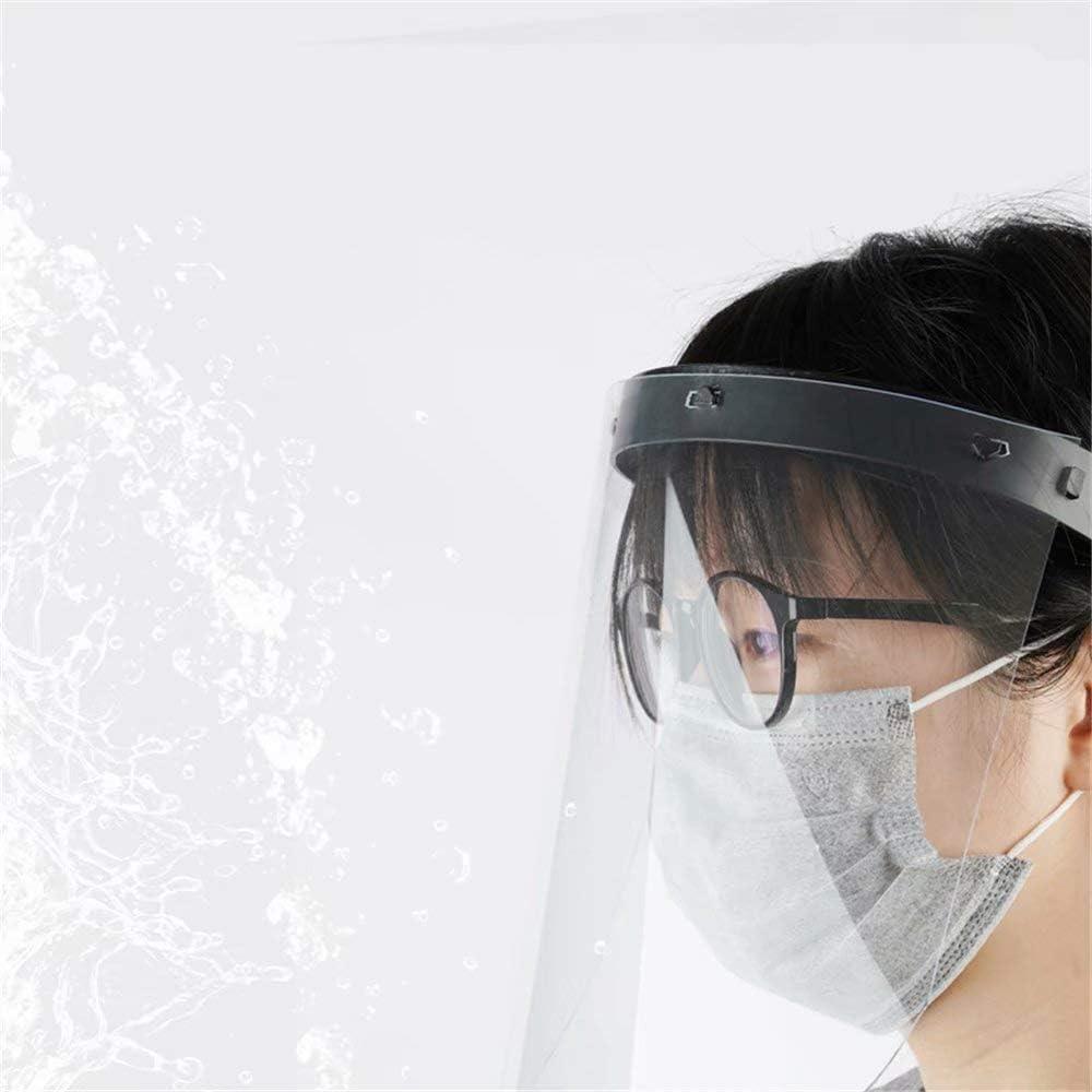 JinYiny Escudo de la Cara Llena de Aislamiento de Polvo y Splash Protectora de la Cara del Visera Careta de protecci/ón Transparente para Dom/ésticos de Cocina