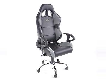 Chaise pivotante fk siège de bureau phoenix noir gris fkrse