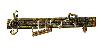 Desconocido Pinza de Corbata Line of Music: Amazon.es: Joyería