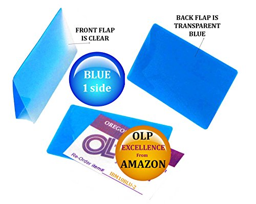 Oregon Lamination Hot Laminating Pouches IBM Card (pack of 200) 10 mil 2-5/16 x 3-1/4 Blue/Clear by Oregon Lamination Premium