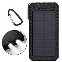 Solar Charger,Solar Power Bank 12000mAh ...