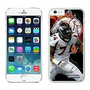 NFL Denver Broncos Orlando Franklin Case Cover For Apple Iphone 4/4S White NFL Case Cover For Apple Iphone 4/4S 12709