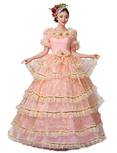 [Zukzi Women's Short Sleeve Southern Belle Costume with Free Petticoat, Customized] (Southern Belle Costumes Adult)