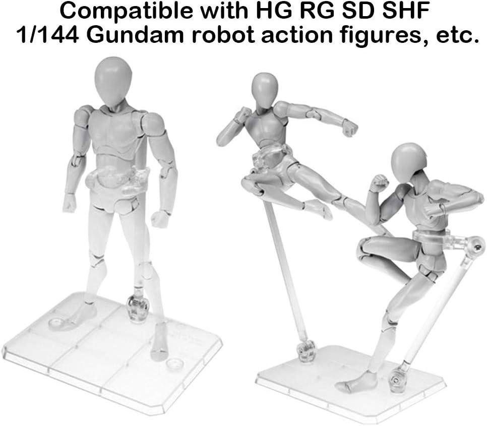 4pcs Action Figure Base Stand Display Holder Fit For HG RG SD SHF Gundam Model