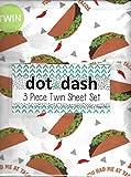 Dot & Dash 3 Piece Kids Twin Sheet Set Childrens (Tacos)