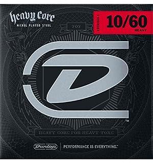 Dunlop DHCN1060 Heavy Core Nickel Wound Guitar Strings, Heavy.010 ...