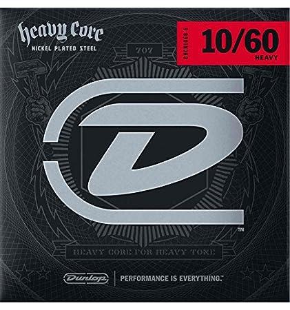 Dunlop dhcn1060 – 6 – Juego de cuerdas guitarra eléctrica – Heavy Core 10 – 60