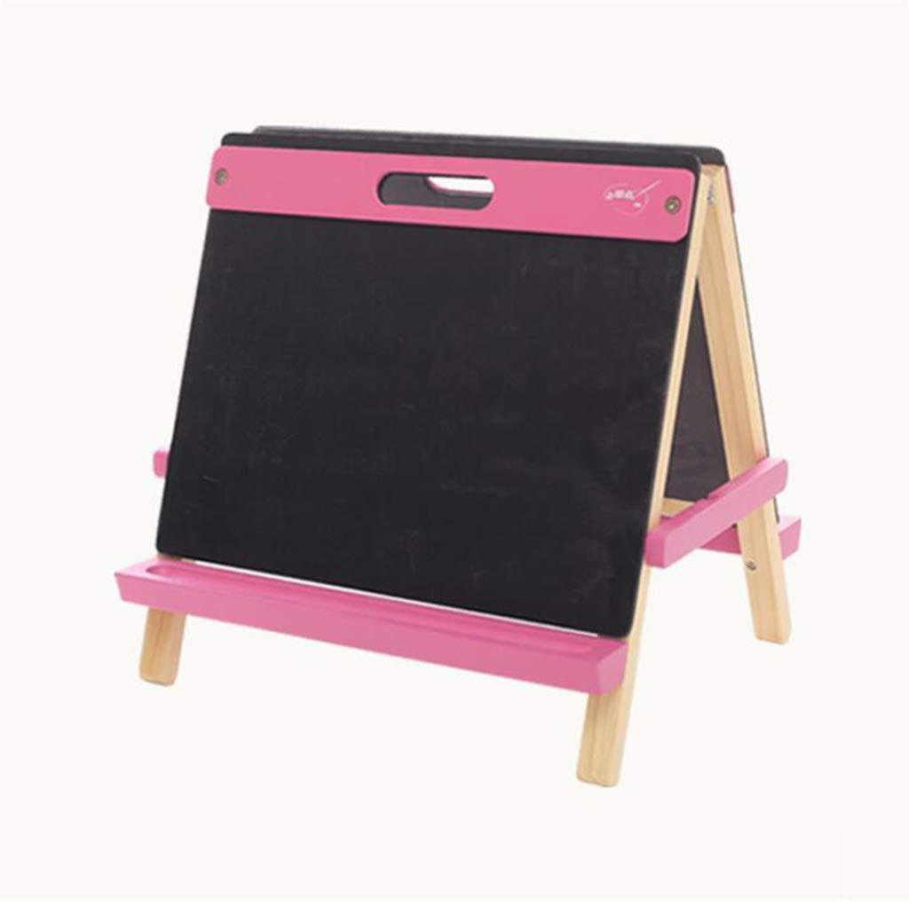 D_HOME Tavolo da Disegno per Bambini Staffa da Tavolo per Bambini casa Doppia Faccia Graffiti Pittura Piccola Lavagna può trasportare (32,5  40,5  41 cm) (colore   rosa)