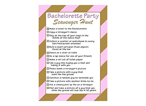 photo regarding Printable Bachelorette Party Games known as : Bachelorette Social gathering Scavenger Hunt Listing