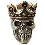 King (Large) Paracord / Lanyard Bead in .925 Sterling Silver & Bronze by GD Skulls