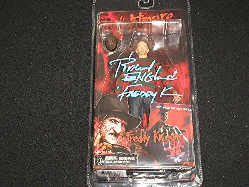 ROBERT ENGLUND Signed Freddy Krueger NECA Series 4 Powerglove FIGURE Nightmare on Elm Street
