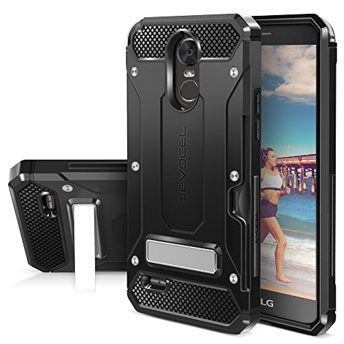 LG G Stylo 3 Case, Evocel [Explorer Series Pro] Premium Dual Layer Protector with Credit Card Slot and Metal Magnetic Kickstand for LG G Stylo 3 (2017 Release), Black (EVO-LGSTYLO3-CK01)