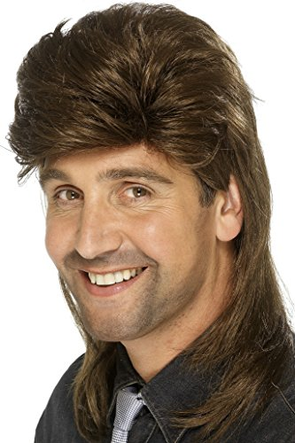 Mullet Wig Costume (Smiffy's Men's Brown Mullet Wig, One Size, 5020570421956)
