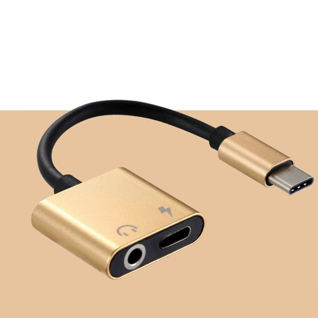 Yogasada USB C a Jack 3.5 Tipo C Adaptador de Cable 2-en-1 Tipo C 3.5Mm Convertidor de Auriculares