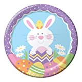 8-Count Round Paper Dinner Plates, Easter Tweets