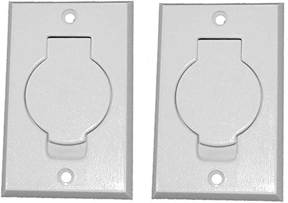 ANTOBLE 2 Pcs Standard Central Vacuum Inlet Valve Plate White for Beam Central Vac - White Round Door