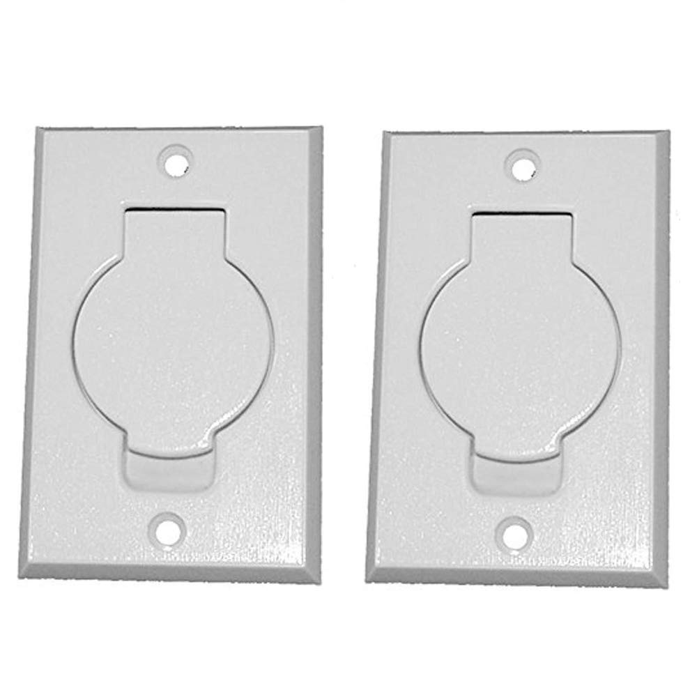 ANTOBLE 2 Pcs Standard Central Vacuum Inlet Valve Plate White for Beam Central VAC - White Round Door Anttrades