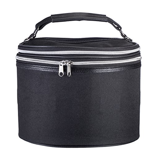 Expandable Wig Travel Case - Breathable Black Canvas Material with Carrying Handles - By Dini Wigs (Tall, No (No Budget Halloween Costumes)