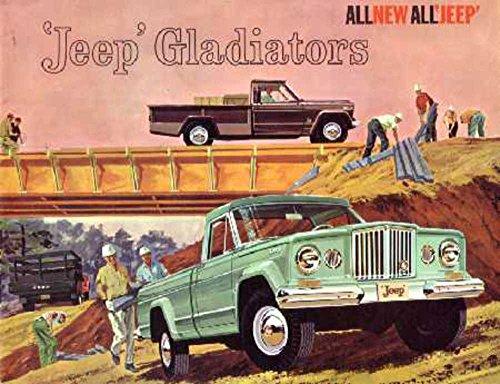1962 Jeep Gladiator Sales Brochure Literature Book Advertisement Options Spec