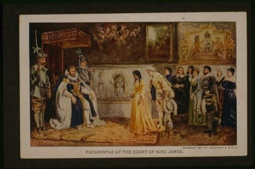 Photo Pocahontas at the court of King James,Ricchard Rummels,photograph,England