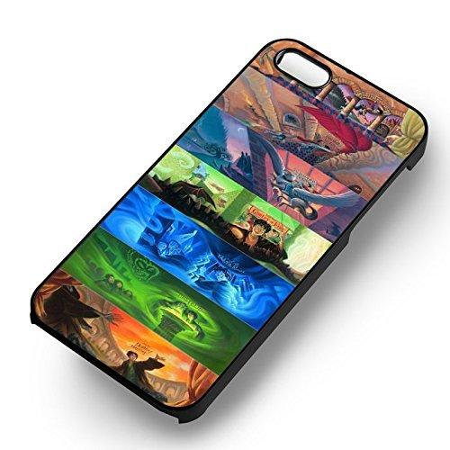 Chic Harry Potter Illustration Books pour Coque Iphone 7 Case (Noir Boîtier en plastique dur) V4C4UW