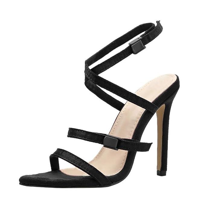 55b56131f0826 DENER❤ Women Ladies Summer Sexy Sandals Stiletto Pumps, Cross ...
