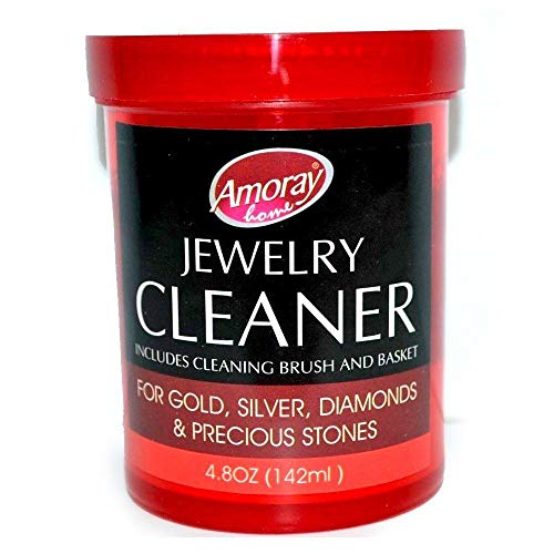 (Amoray The Solution Safely Clean All Jewelry Gold Silver & Diamonds Liquid Cleaner, Multi)
