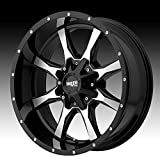 Moto Metal MO970 16x8 Black Wheel / Rim 6x120 & 6x5.5 with a 0mm Offset and a 78.3 Hub Bore. Partnumber MO97068078300