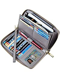 Womens Wallet Geunine Leather RFID Blocking Purse Credit card Clutch