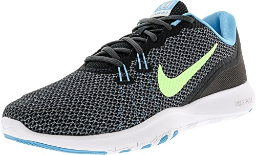 NIKE Womens Flex Trainer 7 Low Top Lace Up Running Sneaker, Grey, Size 8.0