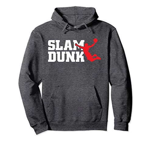 Unisex Slam Dunk Basketball Coach Athlete Pullover Hoodie Gift 2XL Dark Heather