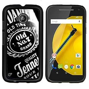 """Be-Star Único Patrón Plástico Duro Fundas Cover Cubre Hard Case Cover Para Motorola Moto E2 / E(2nd gen)( Diseño Calidad Whiskey Partido Bottel Alcohol"""" )"""