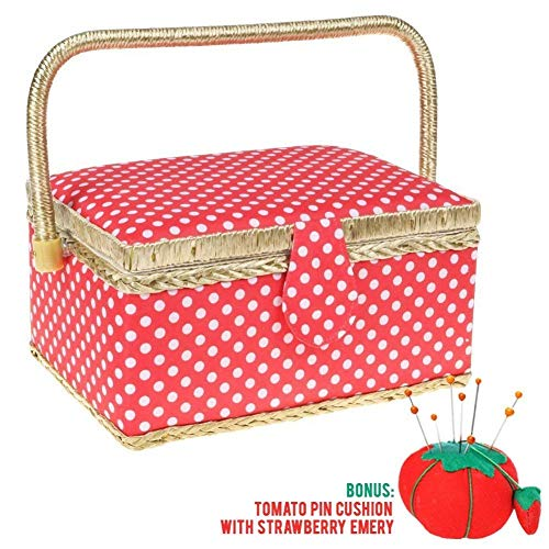 Cheapest Prices! SewKit | Large Sewing Basket Organizer with Complete Sewing Kit Accessories Include...