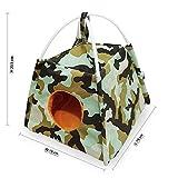Brown Sugar Pet Store Fun Tent for Sugar Glider - Loris - Marmoset - Squirrel Camouflage-Green Color