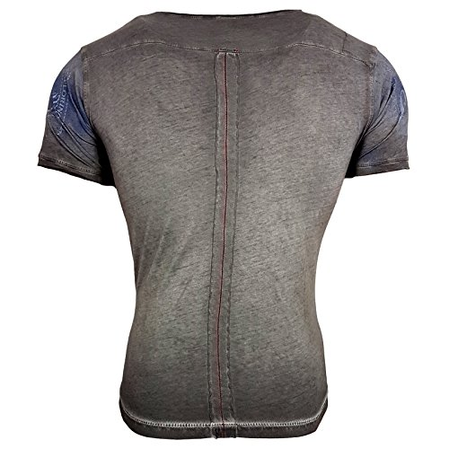 Rusty Neal Herren T-Shirts T-Shirt grau anthrazit XL