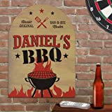 GiftsForYouNow Personalized BBQ Master Indoor Wall Sign – Man Cave Sign, 11.5″ x 15.5″