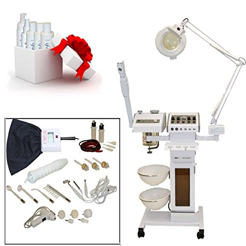 LCL Beauty 11 in 1 Multifunction Facial Machine & Fully Adjustable Hydraulic Bed Chair Package by LCL Beauty (Image #1)