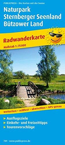 Naturpark Sternberger Seenland, Bützower Land: Radwanderkarte mit Ausflugzielen, Einkehr- und Freizeittipps, wetterfest, reißfest, abwischebar, GPS-genau. 1 : 75 000 (Radkarte / RK)