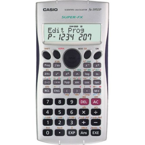 Casio Programmable Calculator (Casio Super Fx-3950p Programmable Scientific Calculator with 2-line Natural Textbook Display Multi Replay Function)