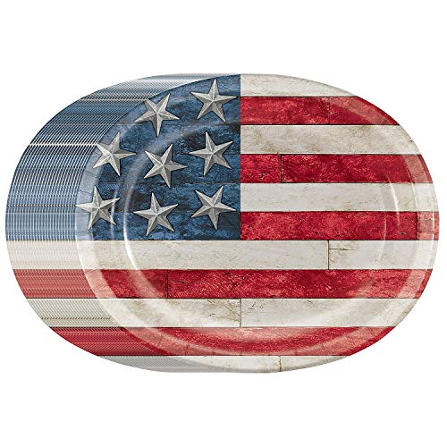 Rustic Americana USA Flag Disposable 10